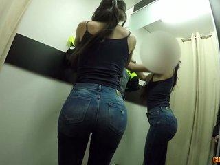 Heißer POV-Bumsen in der Umkleidekabine mit Latina Penelope Damatrix